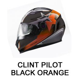 CLINT PILOT BLACK/ORANGE...