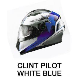 CLINT PILOT WHITE/BLUE SHINY