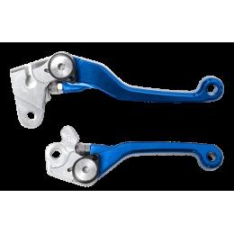 LEVIERS MX FOLDER 125-450SX/XC/TE BLUE